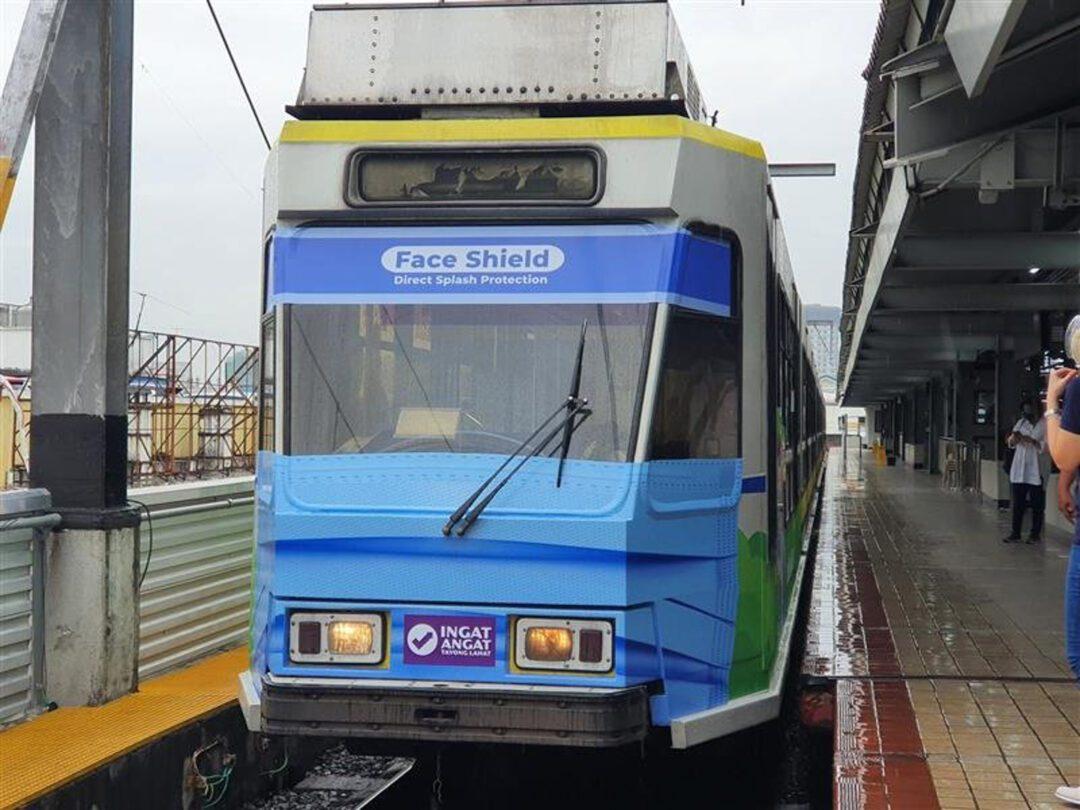 LRMC unveils a unique LRT-1 Christmask themed train