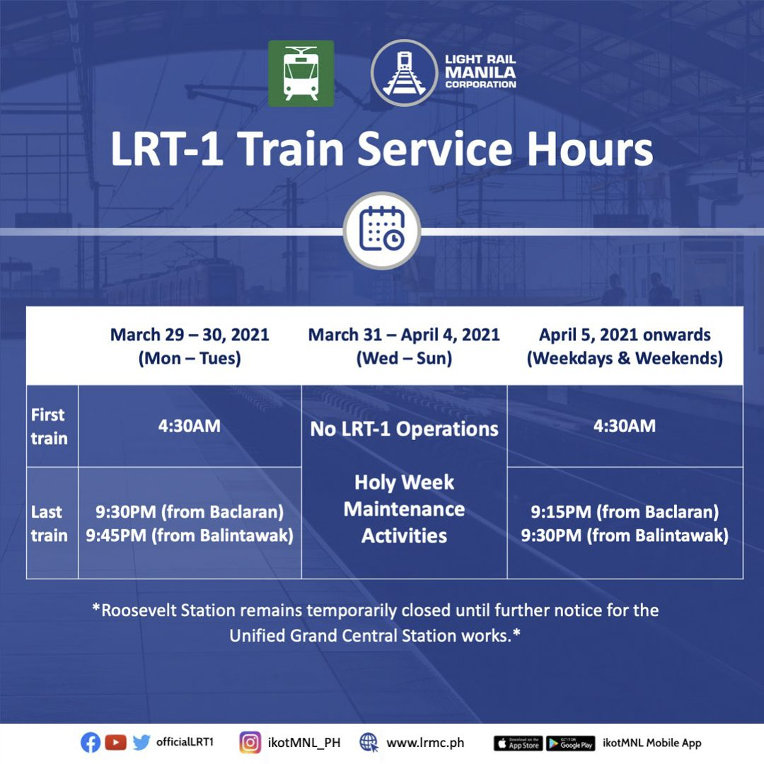LRMC implements adjusted LRT-1 operating hours