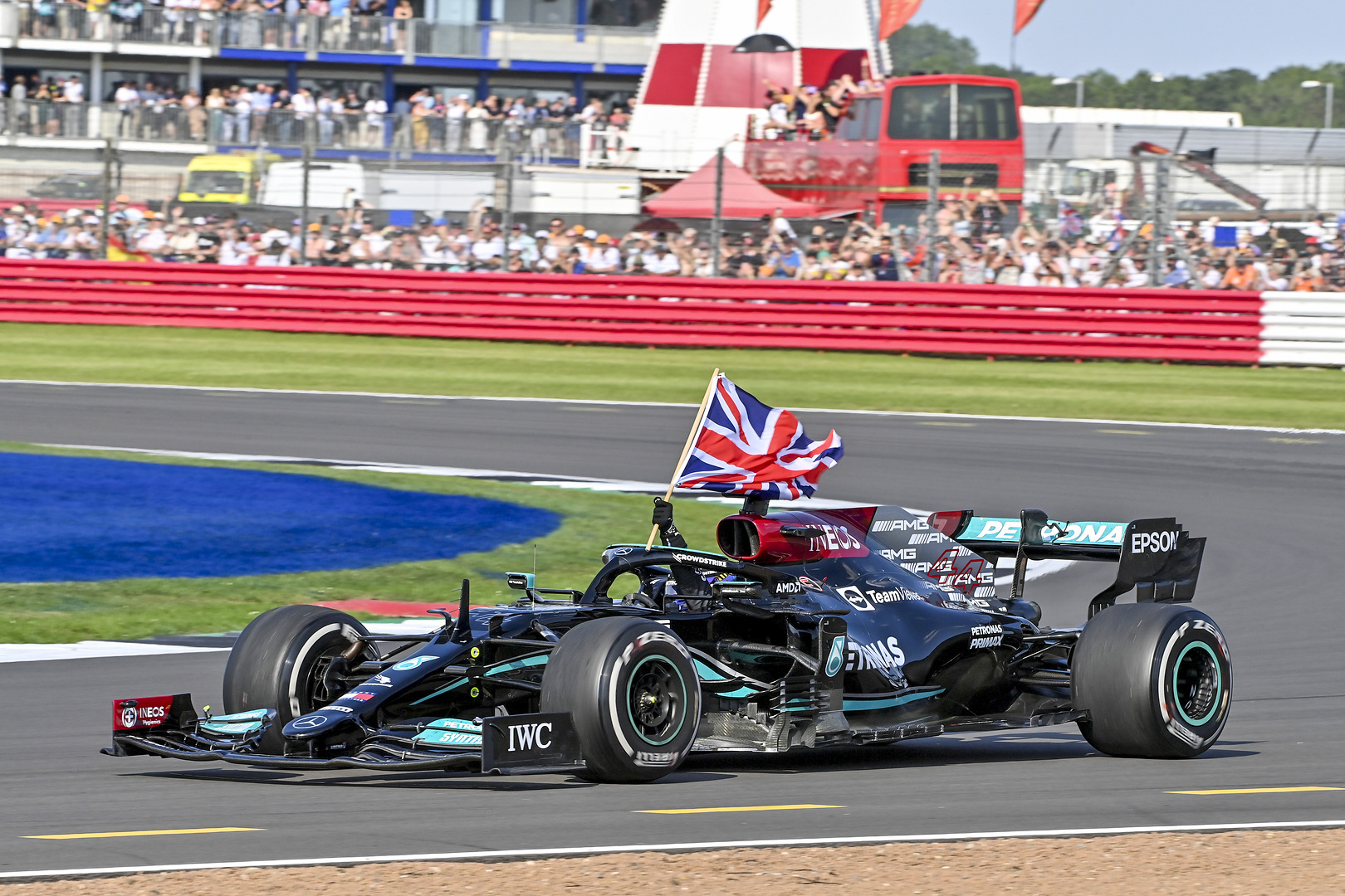 Lewis claims a hard-fought victory for the Mercedes-AMG Petronas F1 Team at the 2021 British Grand Prix, with Valtteri securing an impressive podium in P3