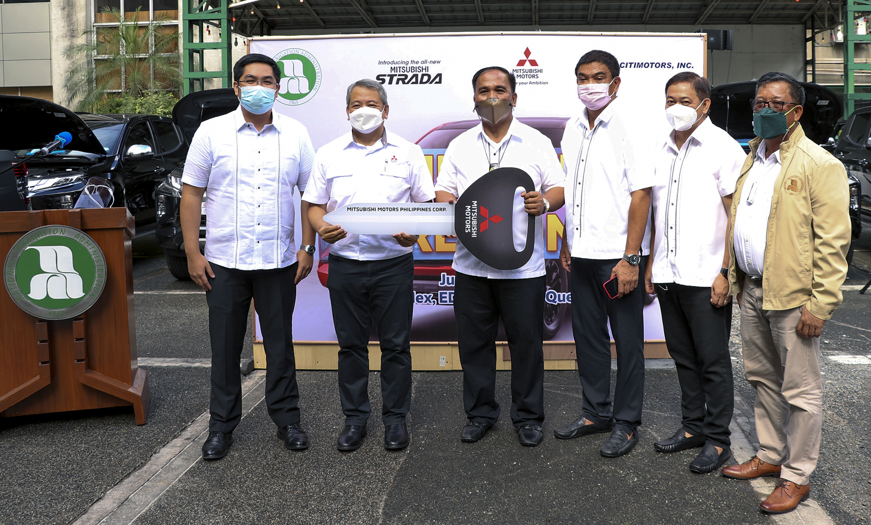 95 Mitsubishi Strada units to be used by National Irrigation Administration (NIA) for their Field Operations