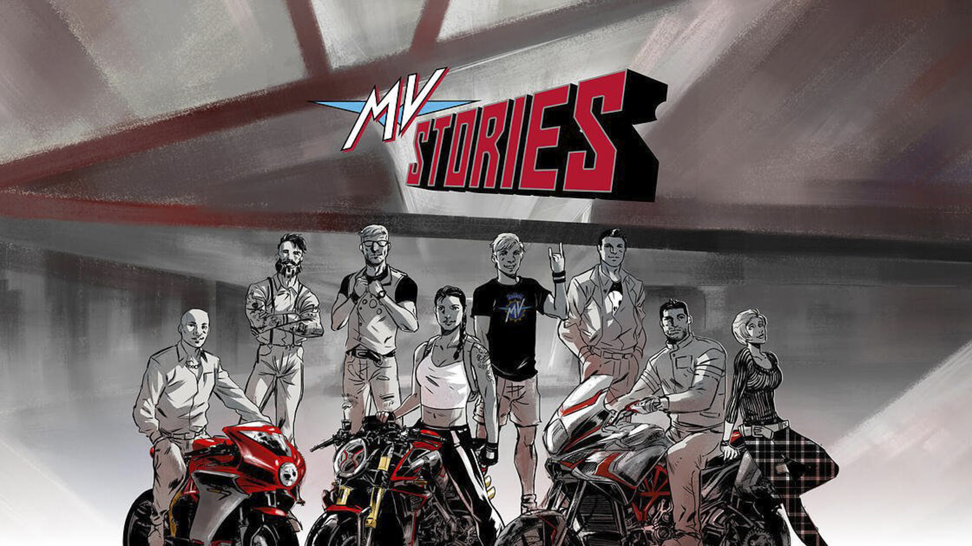MV Agusta iconic range of motorcycles now starring in the first MV branded comic strip