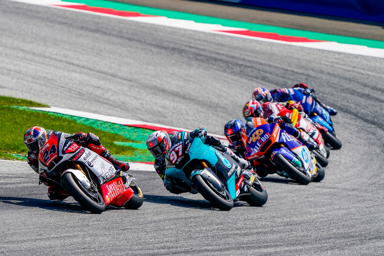 Corsi recovers 8 positions in the race, Baldassarri unfit stays in the box #AustrianGP