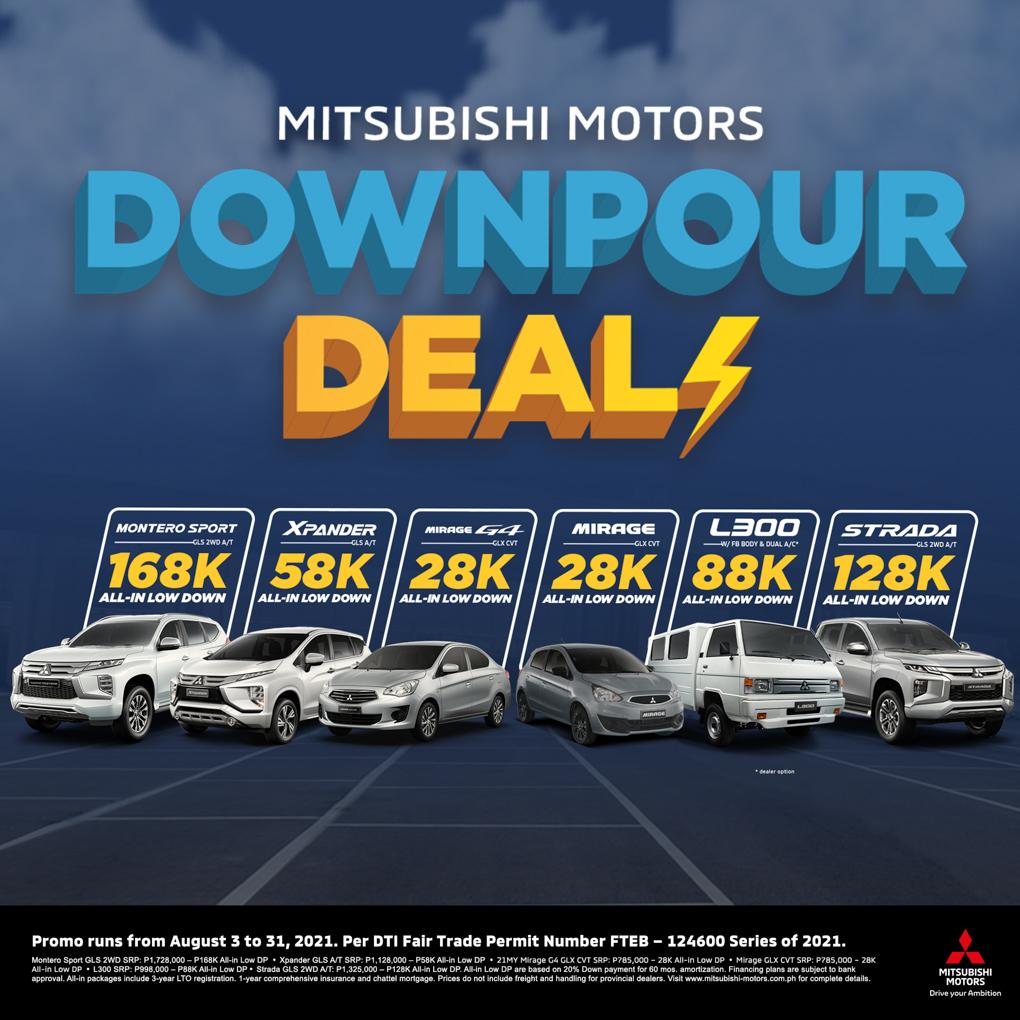 Mitsubishi Motors Downpour Deals Promo Is Extended Until August 31