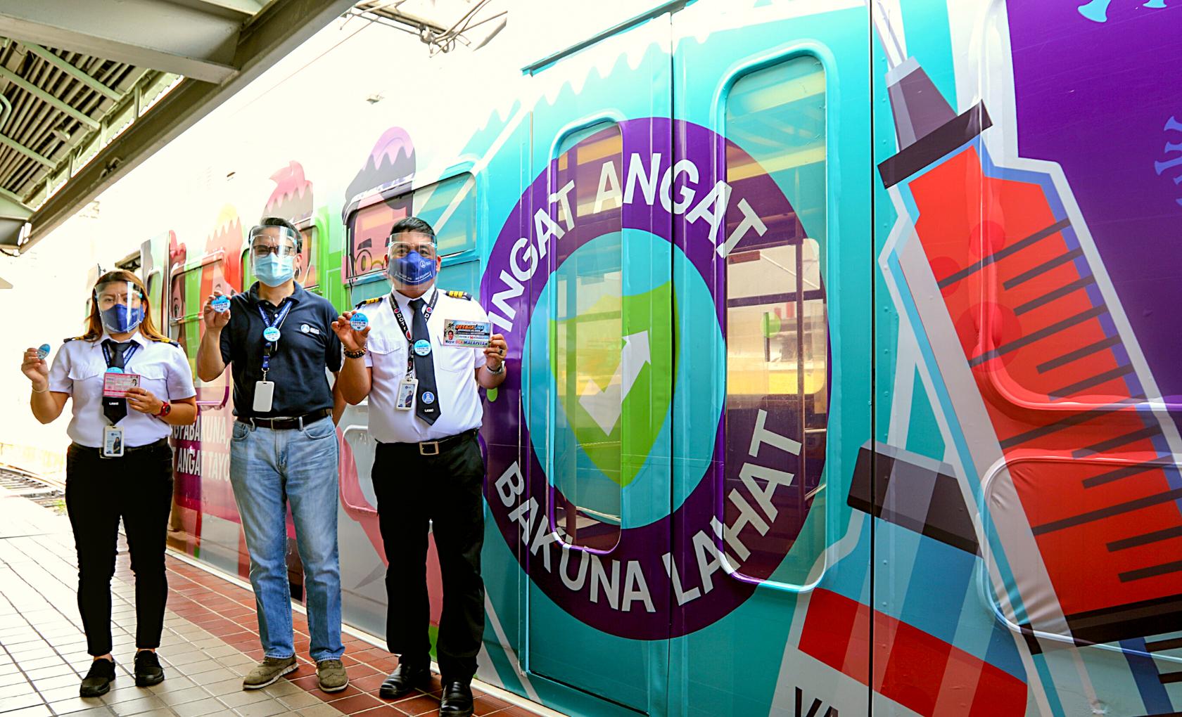 LRMC launches LRT-1 Ingat Angat Bakuna Lahat themed train