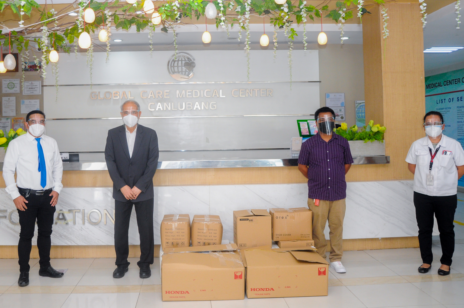 Honda donates PPEs and food packs in support of Medical Frontliners