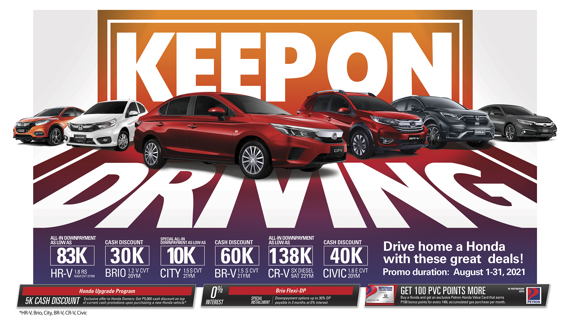 Honda offers exclusive deals and exciting promos this August