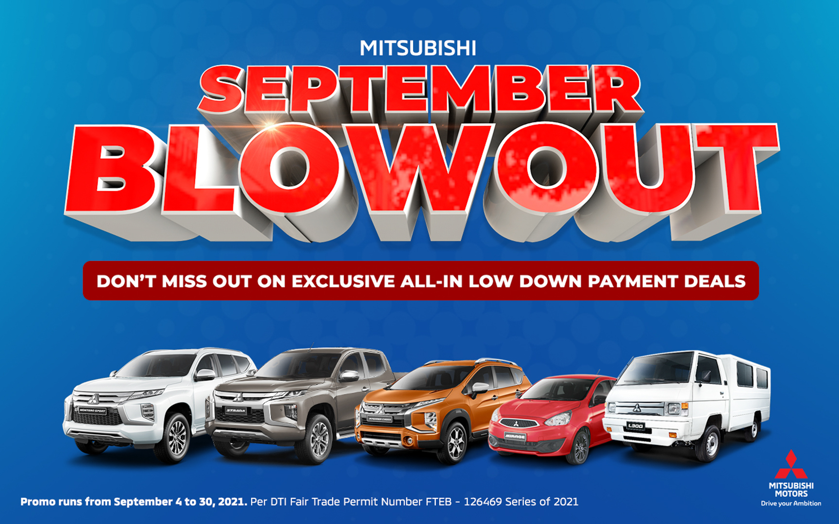 Mitsubishi Motors Philippines Corp. Offers Amazing Deals Through its September Blowout Promo