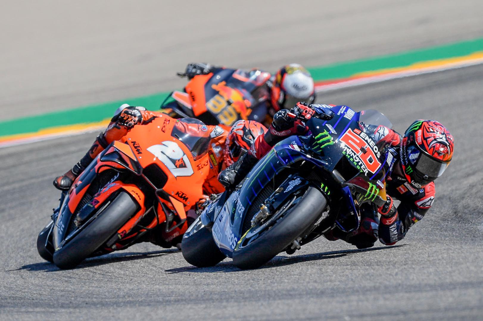 Quartararo takes 8th at tough #AragonGP