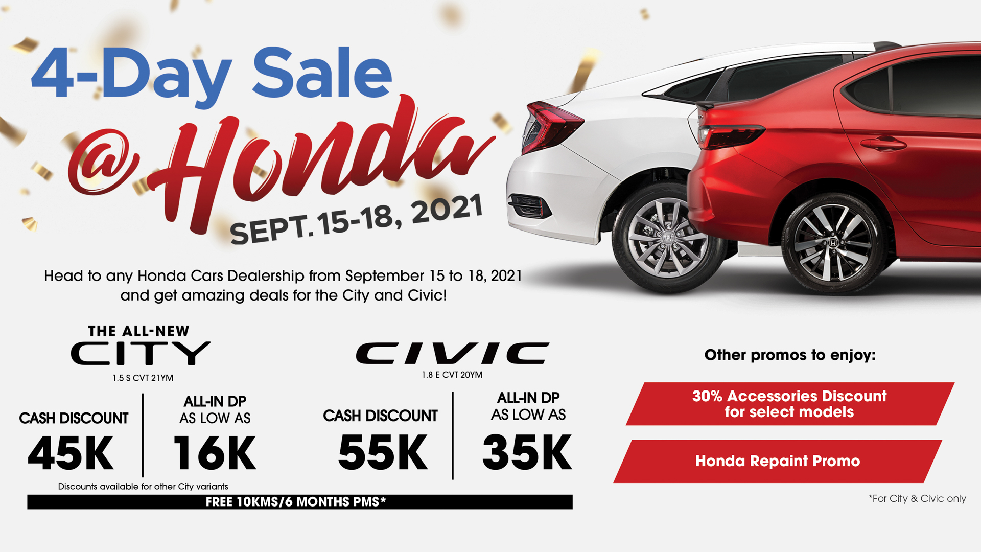 Honda releases all exclusive deals and additional discounts under 4-Day Sale